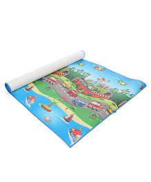 Unimats Play Mat Vehicles Print - Multi Colour & Blue