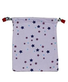 Kadambaby Christmas Gift Sack With Star Print - Purple