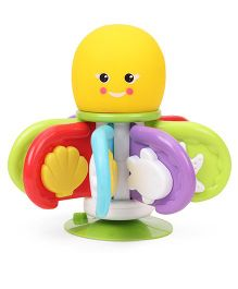Giggles Flap N Clap Octopus Toy With Suction Cup - Yellow