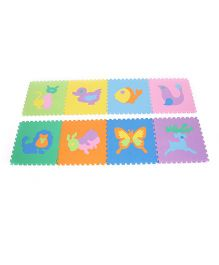 Unimats Animal Jigsaw Style Play Mat - 8 Pieces (Color & Pattern May Vary)