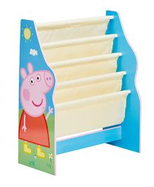 Peppa Pig Bookcase With 5 Compartments - Blue White