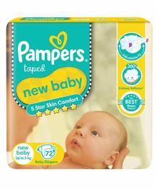 Pampers Active Baby Diapers New Born - 72 Pieces