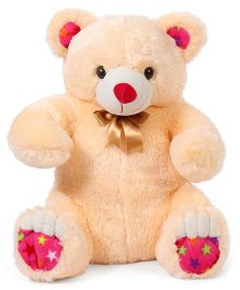 Liviya Teddy Bear Soft Toy With Bow Tie Cream - Height 68 cm