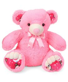 Liviya Teddy Bear Soft Toy With Bow Pink - Height 54 cm