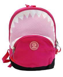 Abracadabra Backpack Triangle Design Pink - 12 Inches