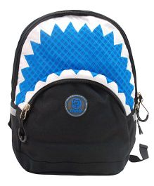Abracadabra Backpack Triangle Border Design Blue - 11 Inches