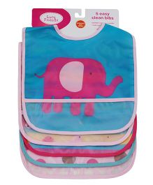 Abracadabra Waterproof Bibs with Pocket Pack of 5 - Pink