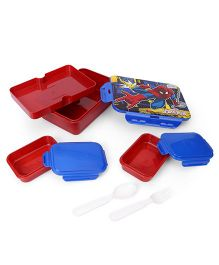 Marvel Spider Man Printed Lunch Box - Blue Red