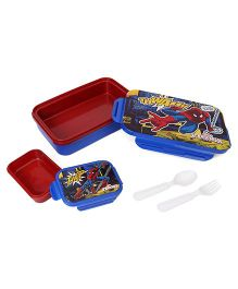 Marvel Spider Man Printed Lunch Box - Blue & Red