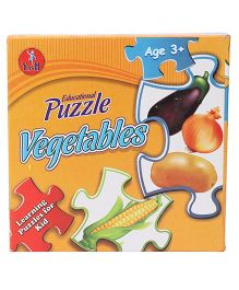 Kumar Toys Vegetables Jigsaw Puzzle Pack Of 4 - Multi Color