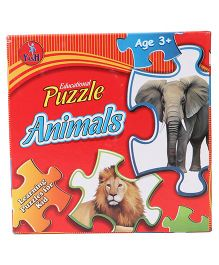 Kumar Toys Animals Jigsaw Puzzle Pack Of 4 - Multi Color
