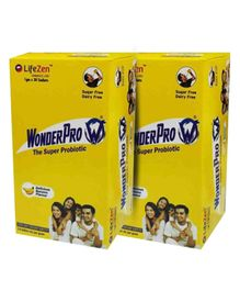 Wonderpro Probiotic Banana Flavor 30 Sachets Each - Pack of 2