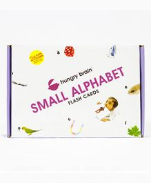 Hungry Brain Small Alphabet Flash Cards Box Of 26 Cards - Multicolor