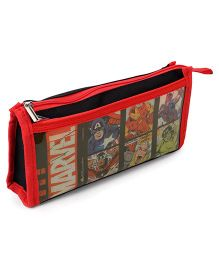 Marvel Avengers Rectangular Pencil Pouch - Black Red