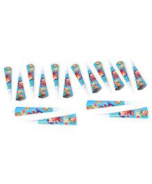 Noddy Paper Blowout Horns Blue - 16 Pieces