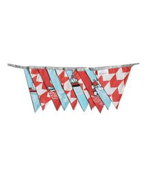 Silverlinen Cotton Bunting Ship Print - Red & Blue
