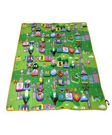 Paramount Waterproof Double Sided Play Mat Numbers Print - Multicolour