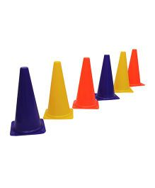 GSI Marker Cone Pack of 6 - Multi Colour