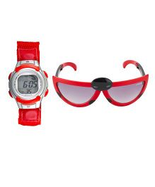 Fantasy World Watch & Sunglasses Combo - Red