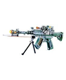 Toyshine Musical Army Style Toy Gun With Laser Light - Green