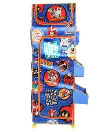 Looney Tunes 4 Shelves Folding Wardrobe - Red & Blue