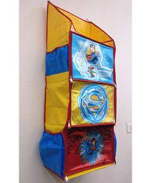 DC Comics 3 Shelf Foldable Hanging Rack Superman Print - Yellow