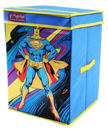 Superman Storage Box Big - Blue & Yellow