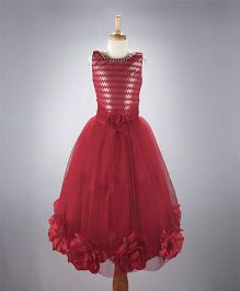 M'PRINCESS Party Wear Stylish Gown - Red