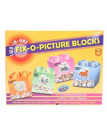Unique Fixo Picture Blocks 2 in 1 - Multicolor