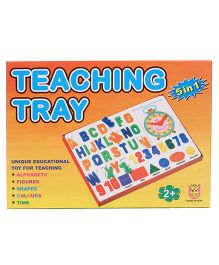 Unique Teaching Tray 5 In 1 - Multicolor