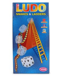 Veer Small Ludo Snakes & Ladder Game - Blue