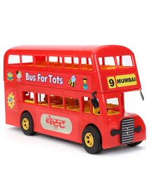 Prime Double Decker Toy BEST Bus - Red