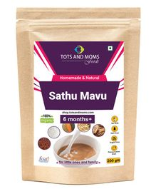 Tots And Moms Health Mix Sathu Maavu Brown - 200 gms