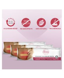 Sirona Feminine Pain Relief Patches Pack of 3 - 5 Patches Each