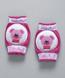 Babyhug Elbow & Knee Protection Pads Bear Print - Pink