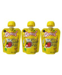 Ormeal Only Apple Strawberry & Banana Puree - Pack of 3