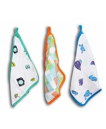 Wonder Wee Cotton Wash Cloth Large Size - Multicolor