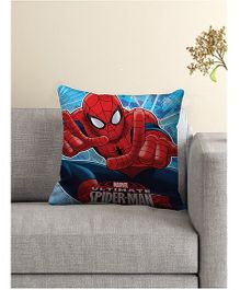 Marvel Spider Man Printed Cushion Cover - Red Blue