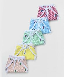 Tinycare Cloth Baby Nappy Medium Multicolor - Pack of 5