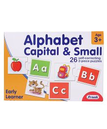 Frank Alphabet Capital & Small Correcting Puzzle - Yellow