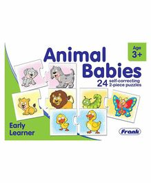Frank Animal Babies Self Correcting Puzzle 48 Pieces - Multicolour