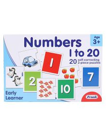 Frank Numbers 1 To 20 Self Correcting Puzzle - Blue