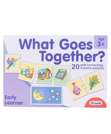 Frank What Goes Together Self Correcting Puzzle 40 Pieces - Multicolour