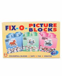 Unique Fixo Picture Blocks Transport Series - Multicolor