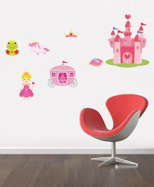 Orka Digital Printed Cinderella Castle Design Wall Sticker - Pink