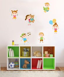 Orka Digital Printed Kids Design Wall Sticker - Multi Colour