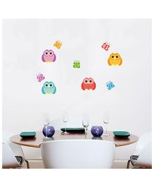 Orka Digital Printed Owl Design Wall Sticker - Multi Colour