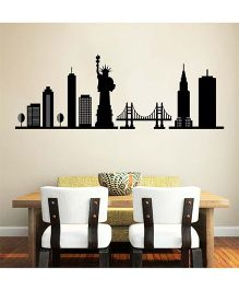Orka Digital Printed Bridge Design Wall Sticker - Black