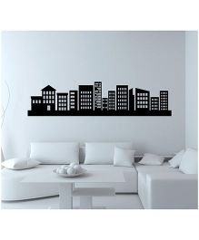 Orka Digital Printed Apartment Design Wall Sticker - Black