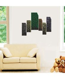 Orka Digital Printed Building Design Wall Sticker - Multi Colour